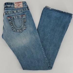 True Religion Bobby Low Rise Boot Cut Jeans Sz 26